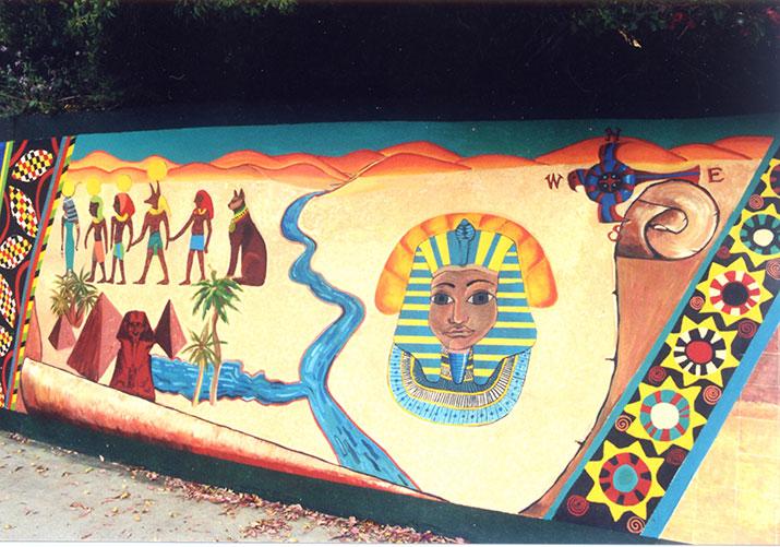 Nile River Mural