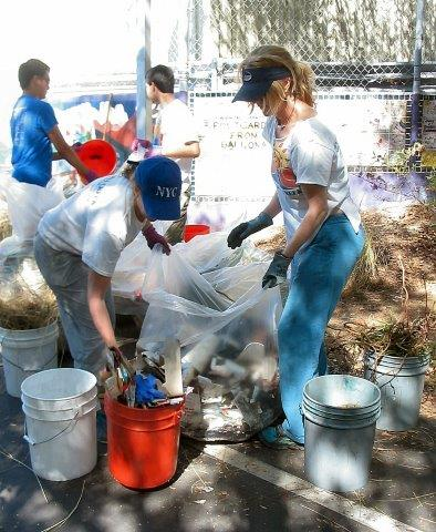 BCR members sort trash collected by public volunteers.