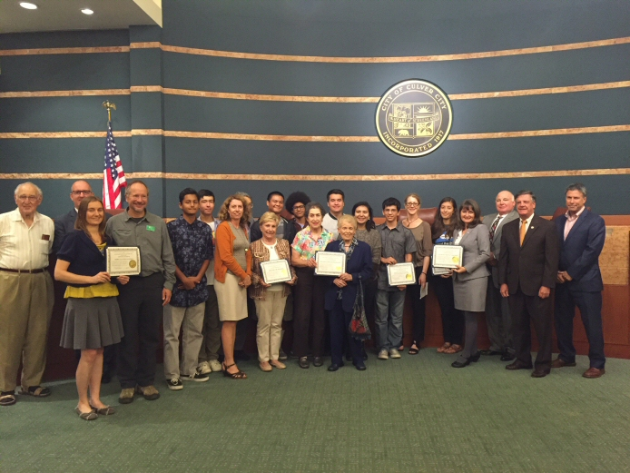 The Culver City Council recognizes organizations that participated in the City's Coastal Cleanup Day work on Sept. 19.